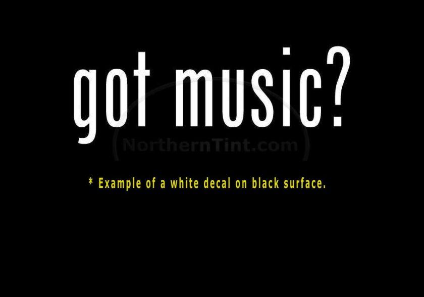 got music? Funny wall art truck car decal sticker