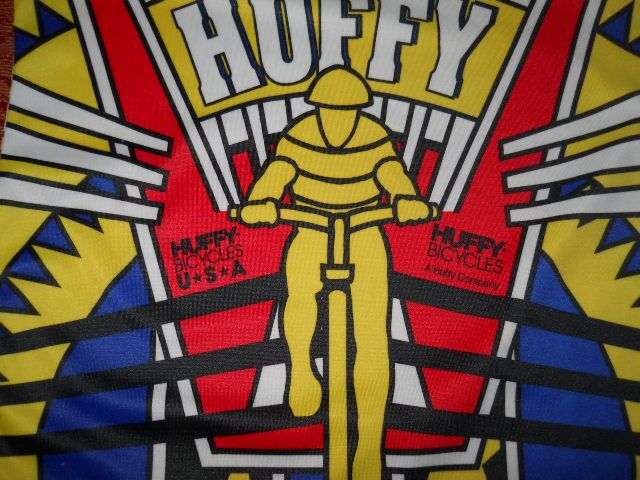vintage HUFFY USA BICYCLE BIKE JERSEY POLY t shirt YM