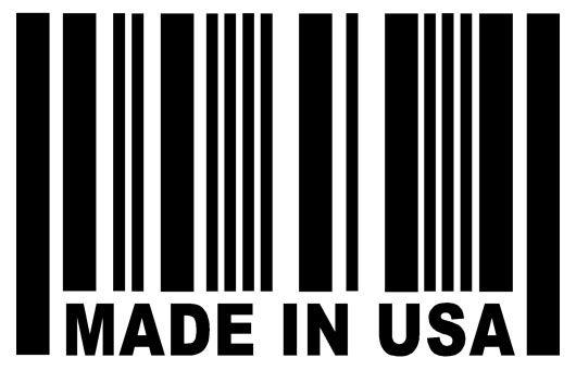 MADE IN USA Barcode Sticker USDM Vinyl Car Window Decal