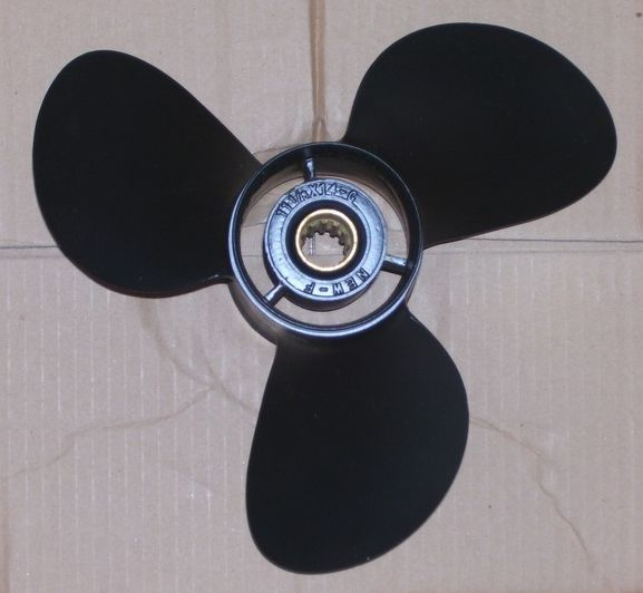 Stainless outboard motor propeller for 50hp 55hp yamaha for Mercury boat motor props