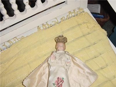 INFANT OF PRAGUE STATUE CHALKWARE DAMAGED RARE CLOTHING |