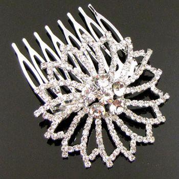 Item  1 pc Austrian rhinestone fashion hair comb bridal