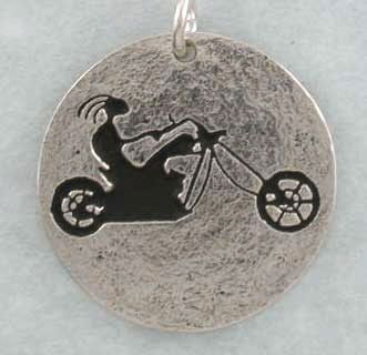 Easy Rider Kokopelli on Chopper, Bike, Motorcycle, Hog, sterling