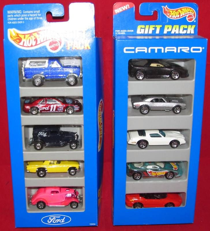 Hot Wheels Ford 12404 Camaro 15071 5 Gift Pack Mustang
