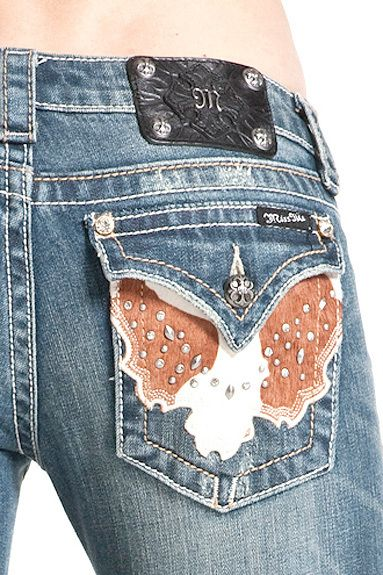 Miss Me Womens Jeans NWT JW4292B6 MED44 Boot Cut ,