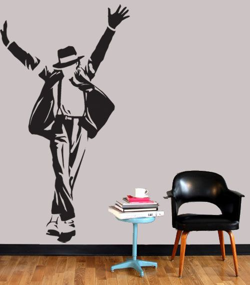 Michael Jackson Pose Wall Vinyl Mural Art Sticker/Decal
