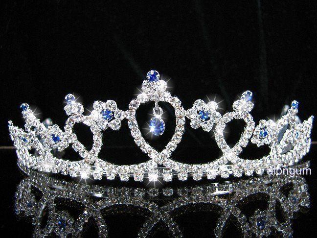 A108 11 Blue Wedding Bridal Bridesmaid Swarovski Crystal Rhinestone