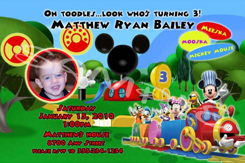 Mickey Mouse Clubhouse Birthday Invitations Personalized could be nice ideas for your invitation template