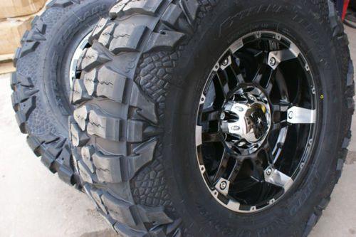 XD Spy Wheels Rims Nitto Mud Grappler 33 Tires Chevy Silverado GMC